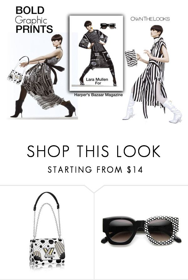 """""""Bold Graphic Prints Harper's Bazaar Magazine"""" by lolly-p ❤ liked on Polyvore featuring Sebastian Professional, ZeroUV and Jaeger"""
