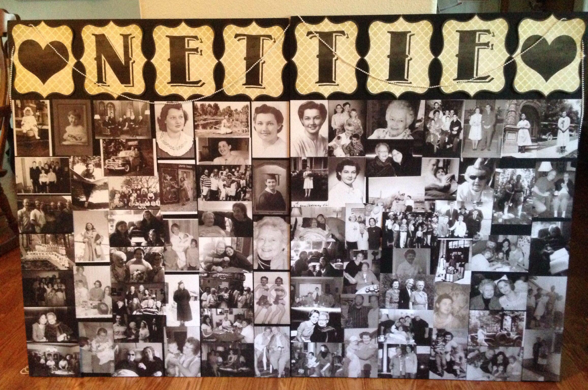 Memorial Picture Collage For My Grandma Nettie Memorial Ideas