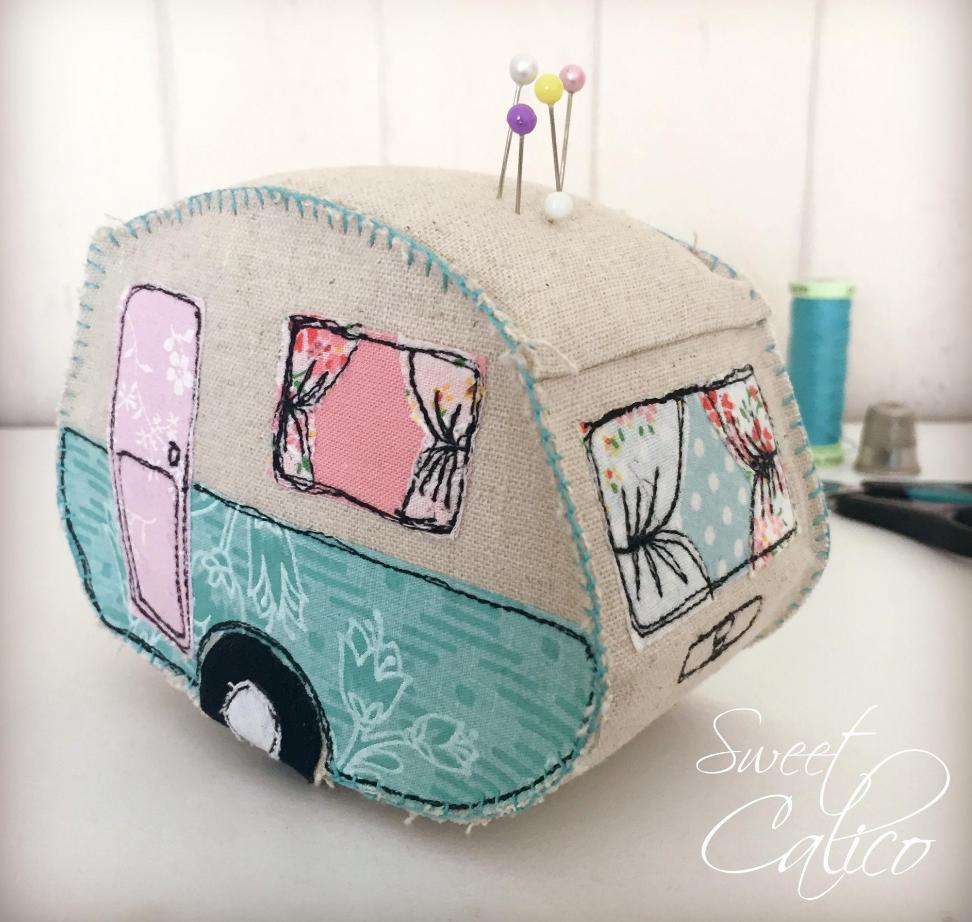 Free Sewing Pattern: Vintage Caravan Pincushion | Sewing | Pinterest ...