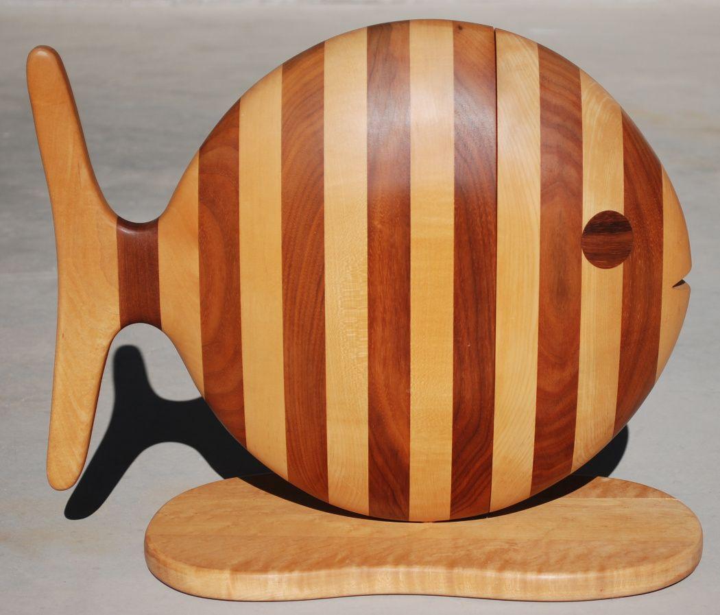 Sculptural gene sherer fish jewelry box wooden fun pinterest
