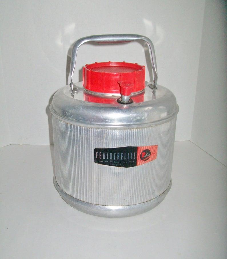 Vintage Cooler Metal Featherflite Vacucel Foam Insulation