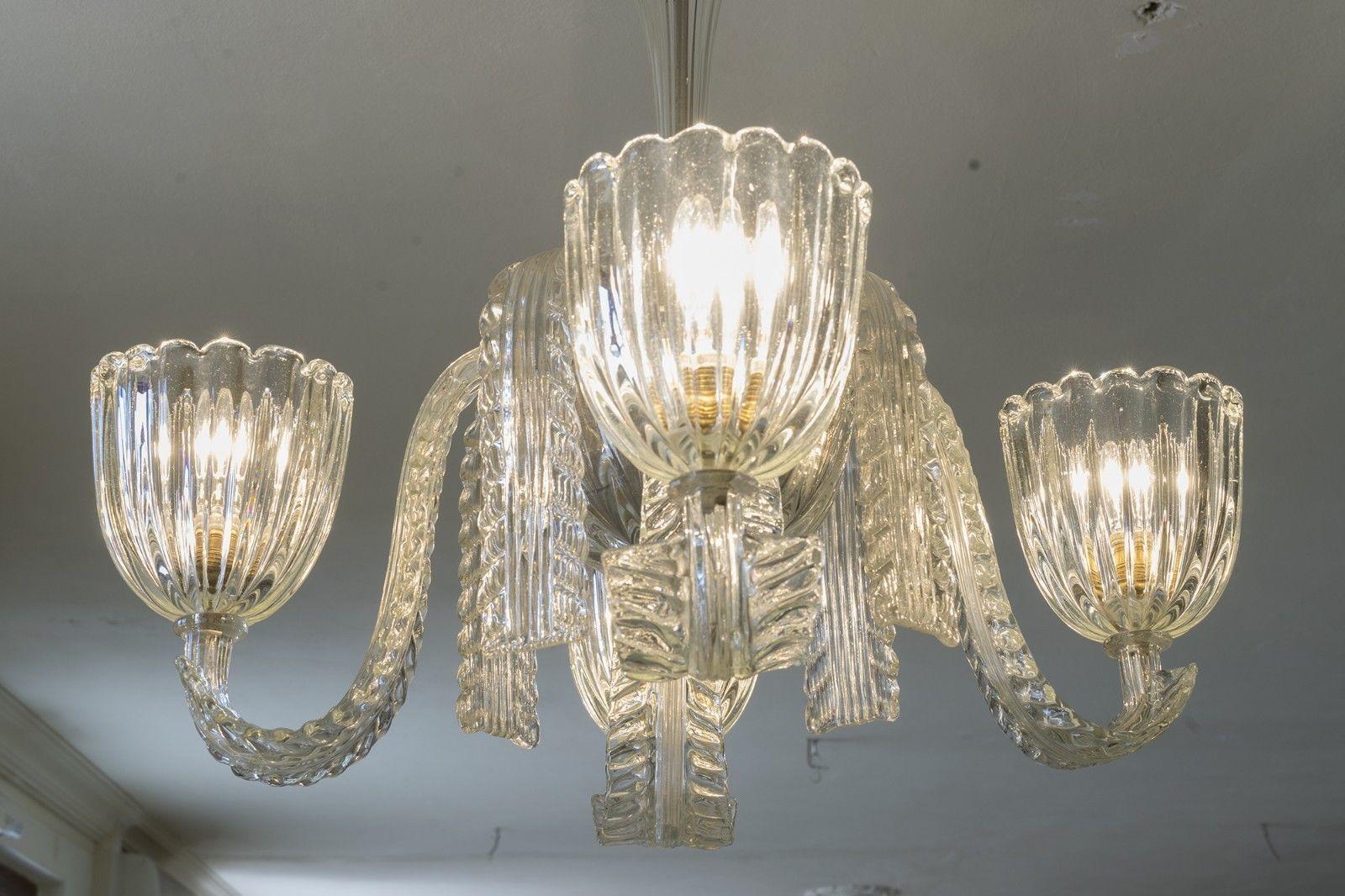 Lampadario Murano Anni 40.Antico Lampadario Di Murano Art Deco Anni 30 Designer Barovier E