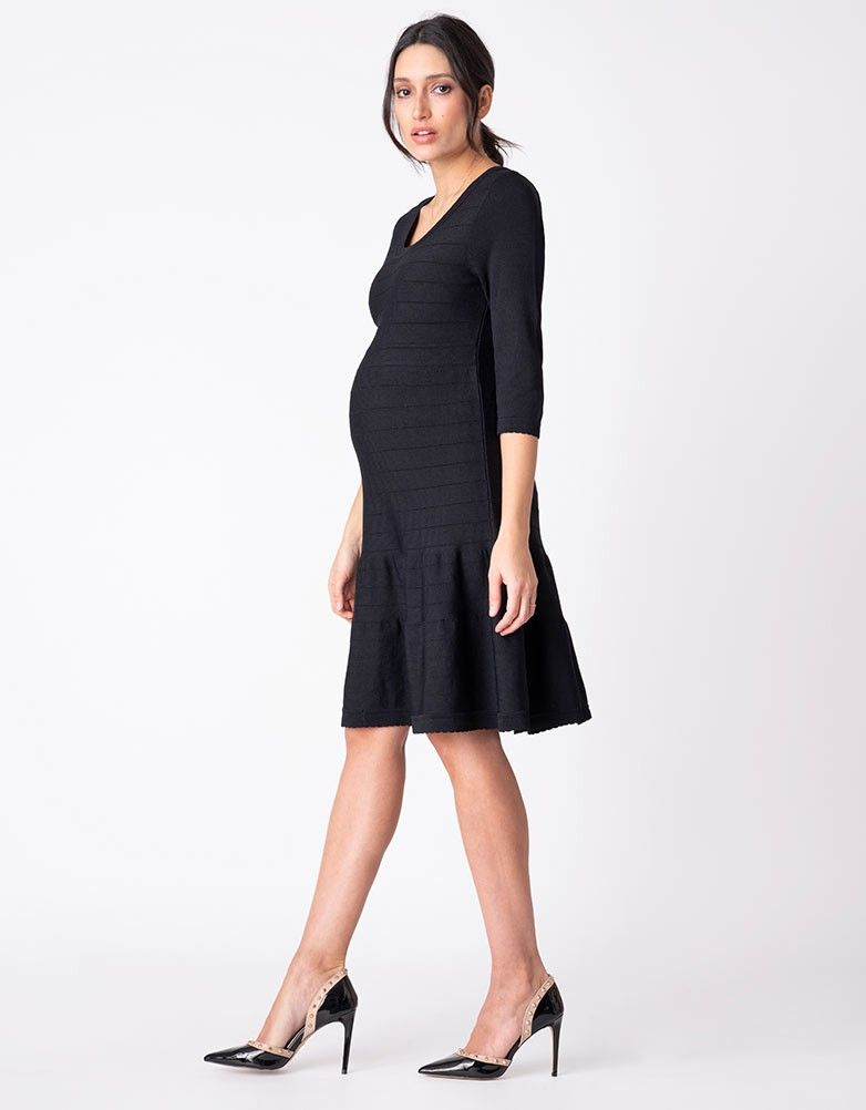 3aab47201e240 Knit Construction Black Maternity Dress | A classic style and a  figure-flattering fit, our Knit Construction Black Maternity Dress is the  ultimate LBD for ...