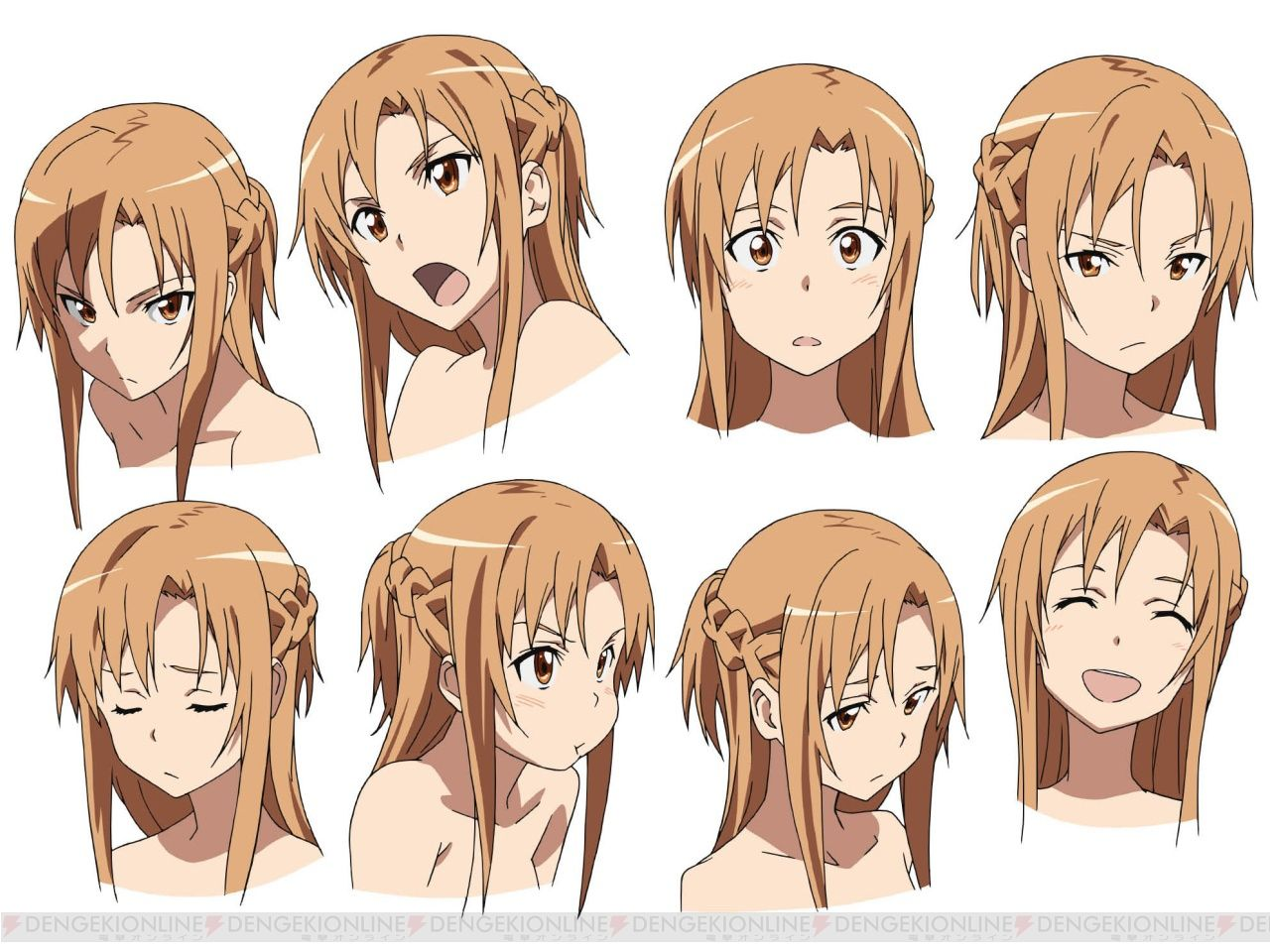 Anime Character Design Generator : For what it looks like asuna is a quot supporting character
