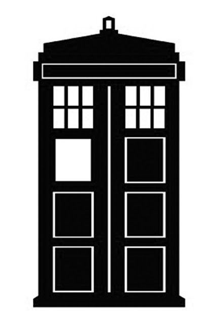 tardis template for cake - doctor who stencil silhouette outline clipart mania 16