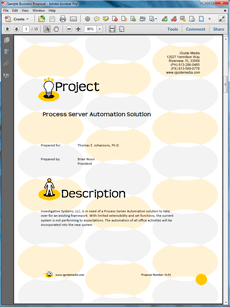 Software Automation Sample Proposal  Create Your Own Custom