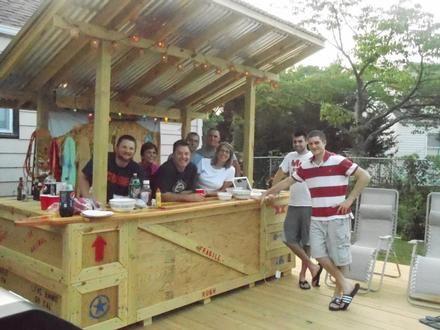 Tiki bar built by steve i project gallery pinterest for Arredamento tiki
