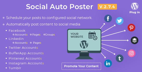 Pin By Ahmed Gamil On Codecanyon Social Auto Poster V2 7 4 Wordpress Plugin Wordpress Plugins Plugins Codecanyon