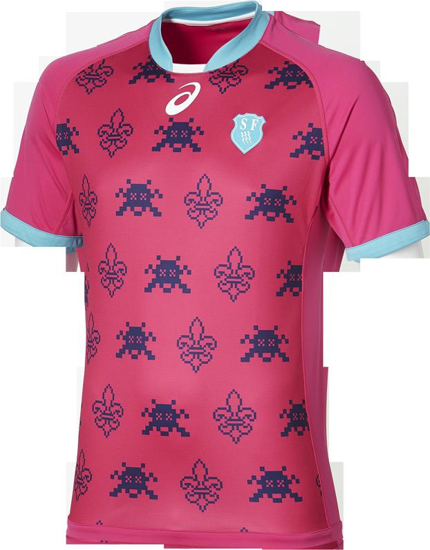 Asics apresenta novas camisas do Stade Français - Show de Camisas ... c0cea2c17f59a