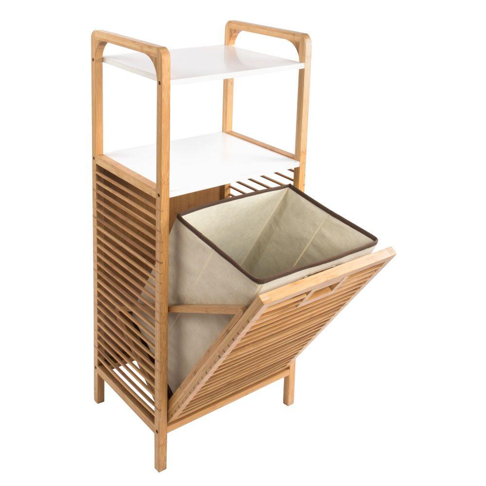 Mueble De Bamb Con Caj N Abatible Y 2 Bandejas De Almacenamiento  # Muebles Debambu