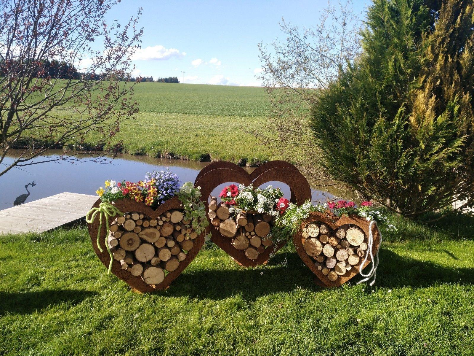 Herz Aus Metall Holz Regal Edel Rost Garten Terrasse Deko Riesig Ebay Rost Deko Garten Holzgitter Garten Terrasse