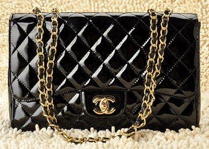 67e0dac9c05f Shiny Black Chanel Bag | Bags | Chanel, Black patent leather, Bags