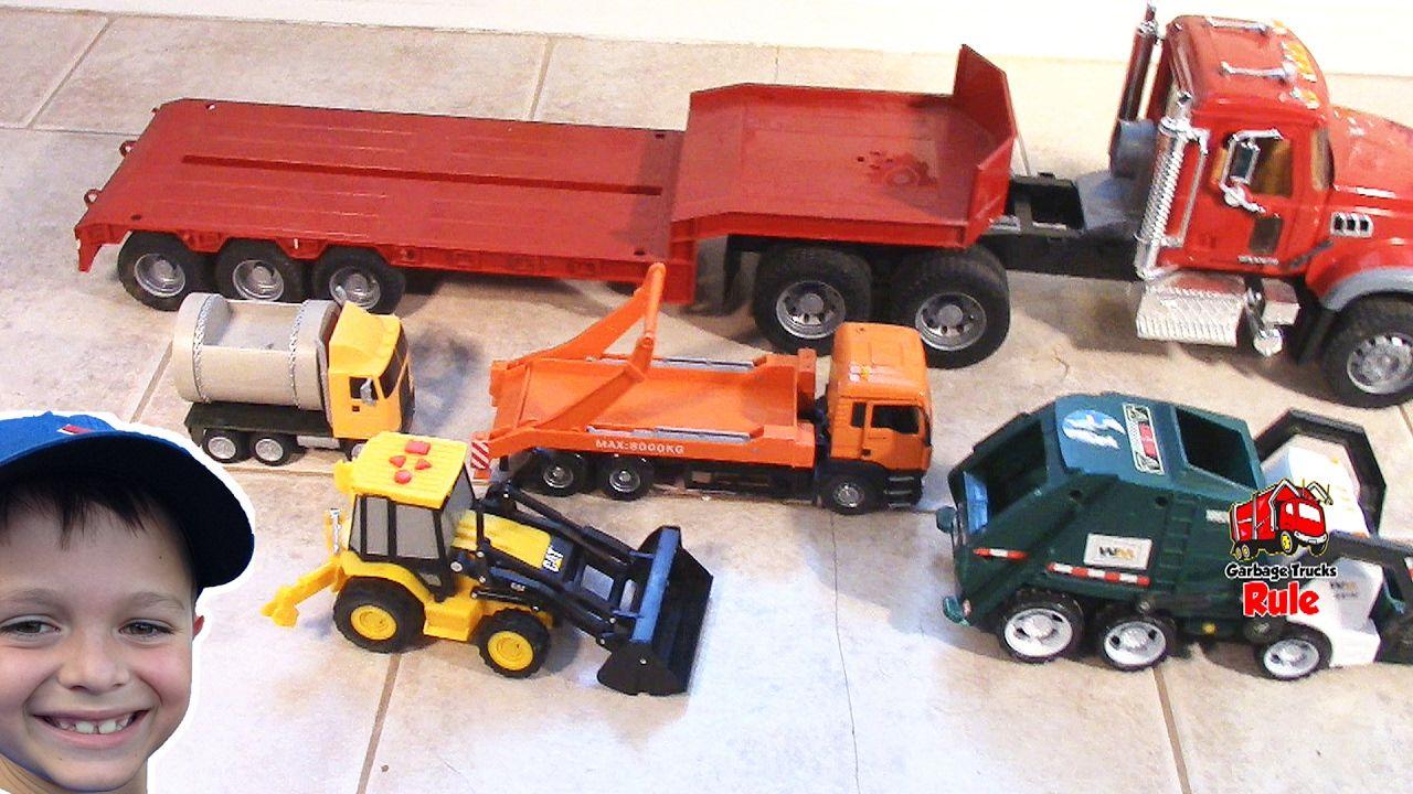 Garbage Trucks For Children And Bruder Mack Granite Flatbed L Garbage Tr Garbage Truck Toy Car Garbage