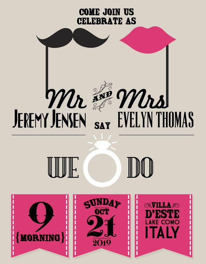 25 Creative and unusual Wedding Invitation Card Design Ideas ...