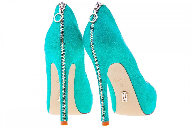 fad52d46201962 Janiko High-Heels Classics Pumps Tabu Aqua blau