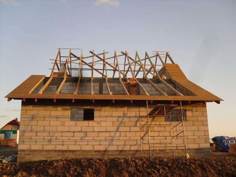 Budowa wg. projektu D03 z garażem   #strop #dach #więźba #budowanie