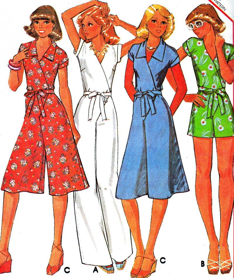 Vintage Sewing Pattern 1970s McCall\'s 5582 Front Wrap Womens ...