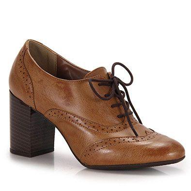 5d75e7afd Sapato Oxford Feminino Bruna Rocha - Caramelo | Sapatos | Sapatos ...