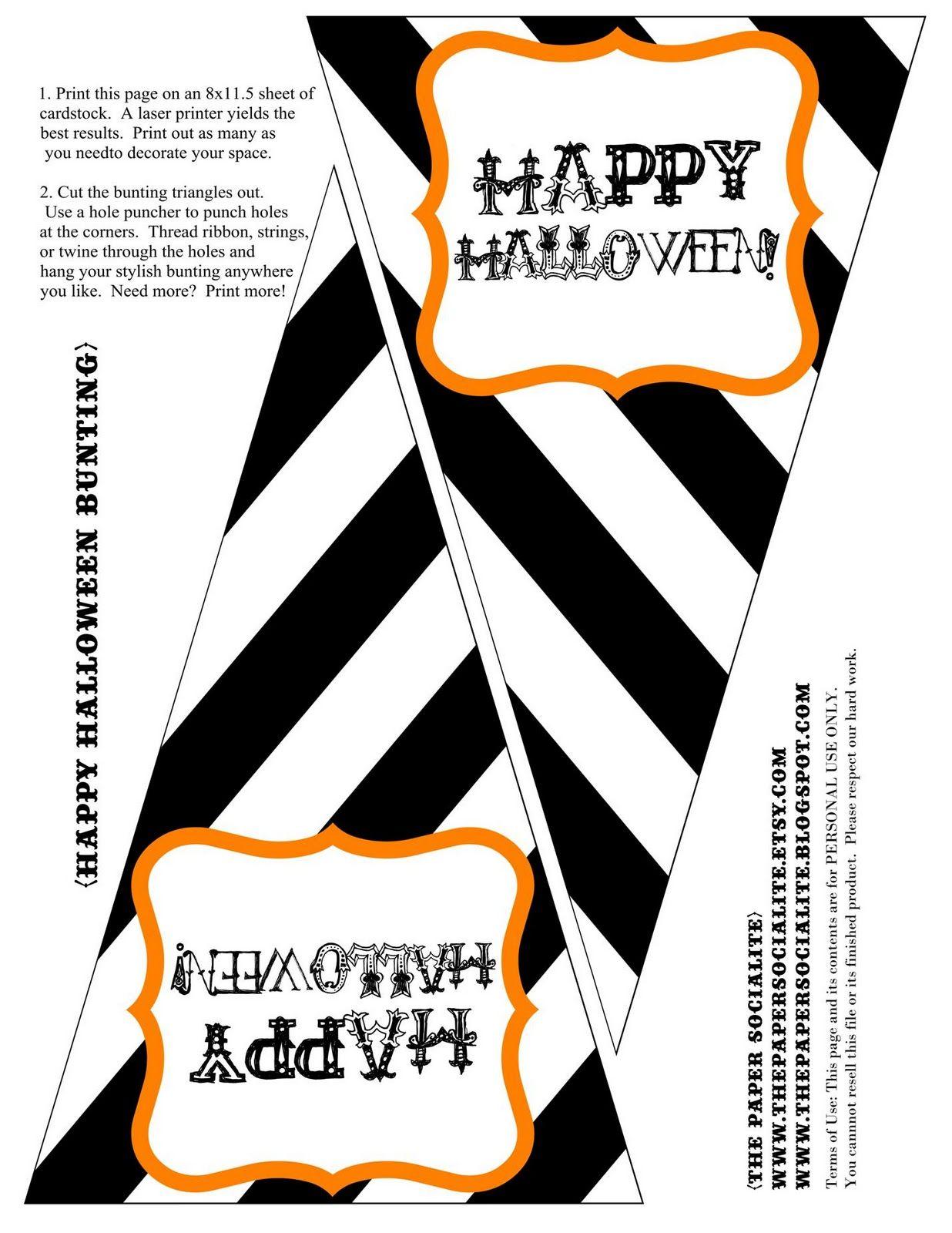 Free Halloween bunting printable