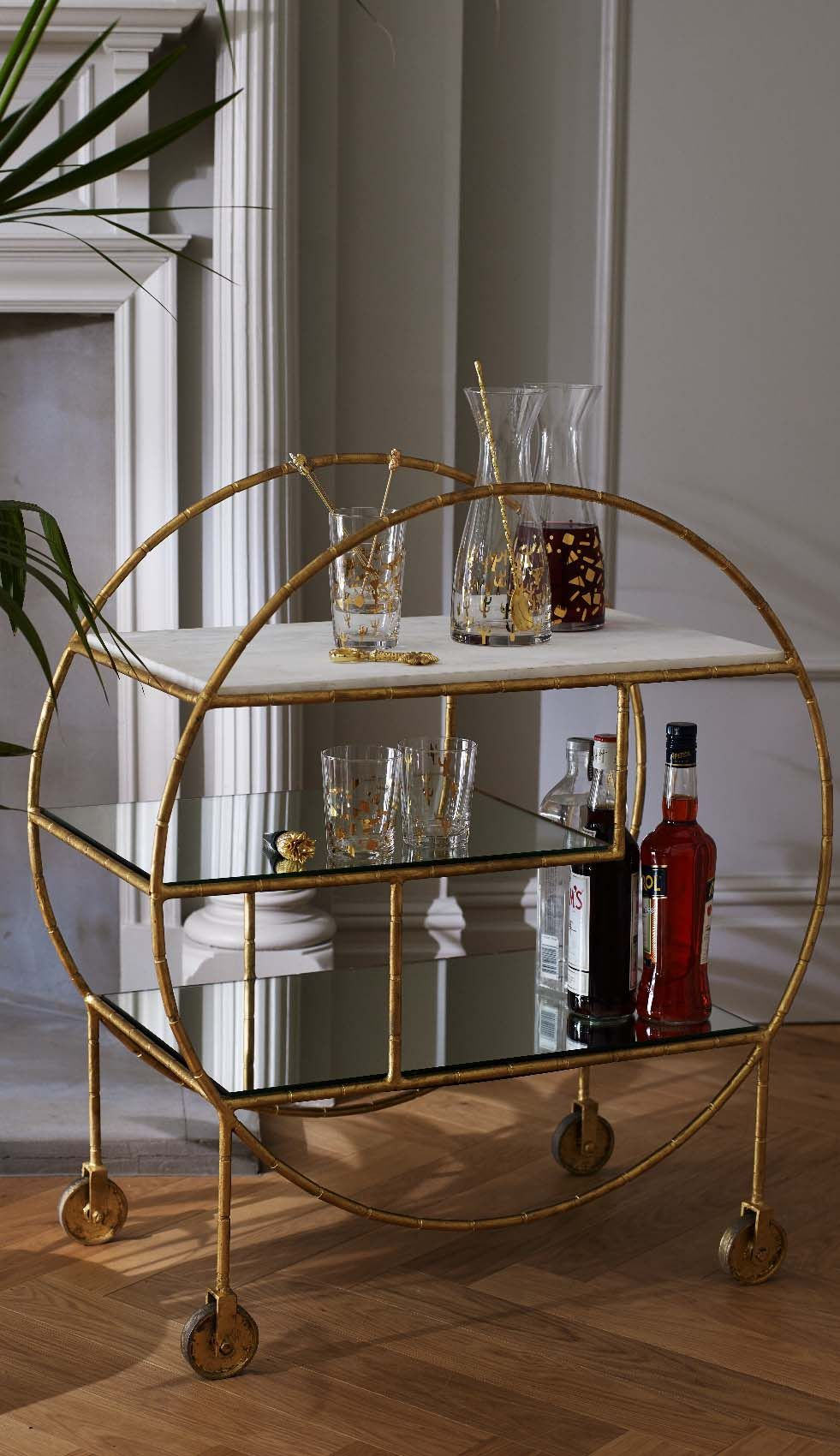 Muebles Ob Luxe Round Bamboo Drinks Trolley My Ob Studio Trolley
