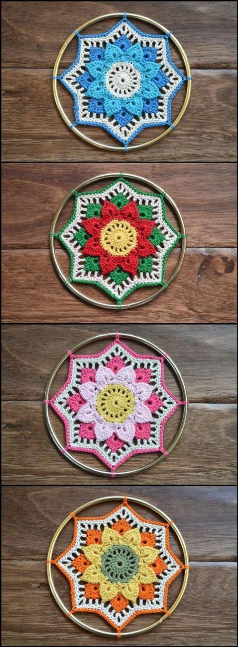 60+ Free Crochet Mandala Patterns | Pinterest | Handarbeiten, Häkeln ...