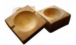 매립지 나무 그릇
