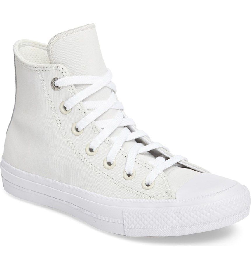 Crushing on these trendy white Converse sneakers that would pair perfectly with distressed denim and a tee.