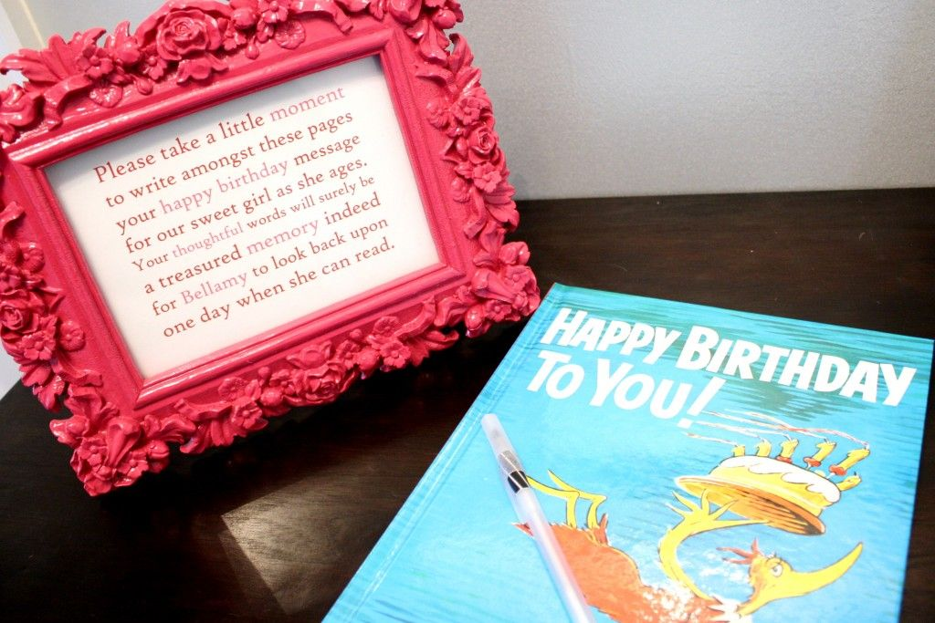Guest Book for a Birthday Party - have guests sign a birthday book as a keepsake!