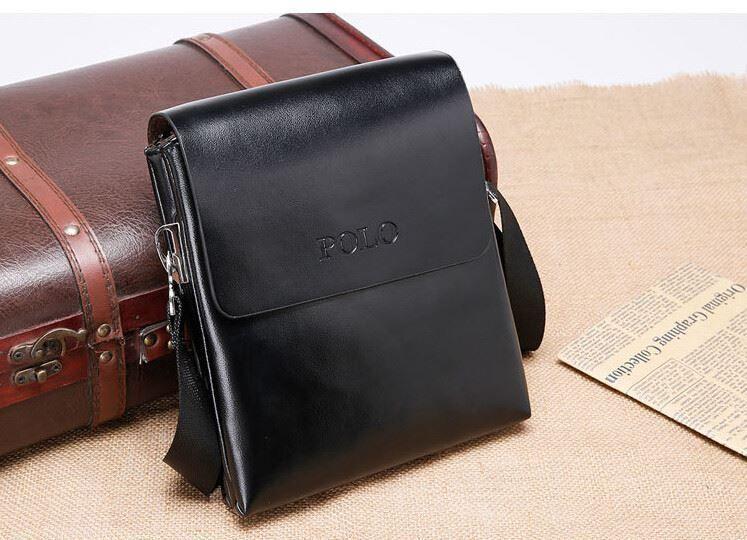 BDF High Quality Glossy New Men Fashion Messenger Bag Polo Videng Shoulder  Bag ef7131dbd61ab