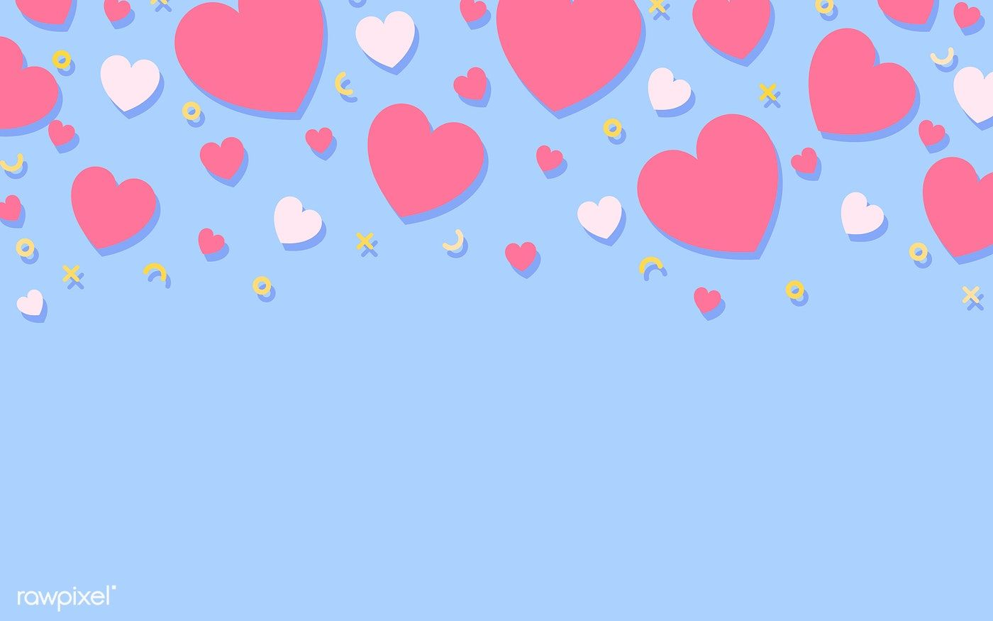 Pastel Hearts Background Design Vector Free Image By Rawpixel Com Kappy Kappy Background Design Background Design Vector Heart Background
