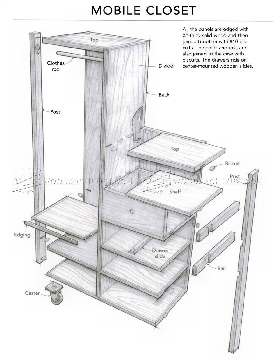Simple Furniture Plans Mobile Closet Plans Furniture Plans Projet Pinterest