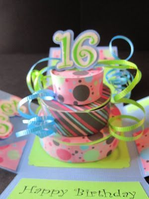Free Svg Cake In A Box Explosion Card