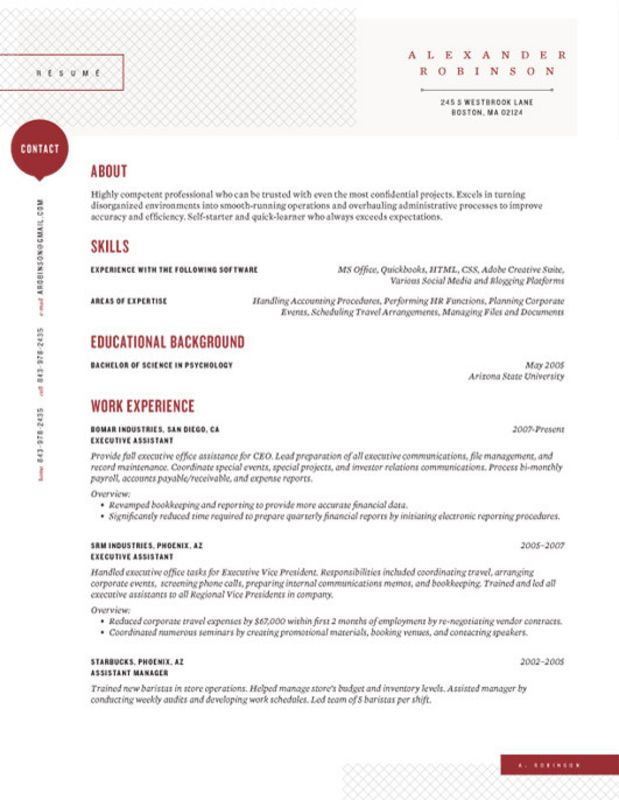 Custom Resume Templates | Resume Templates And Resume Builder