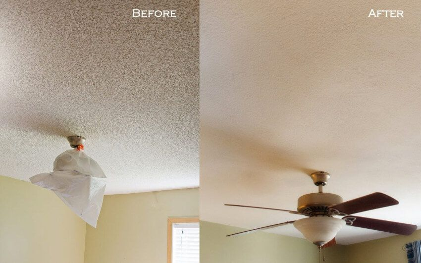 5 Before And After Popcorn Ceiling Removal Photos With Images