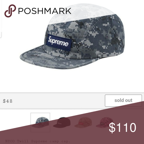 34da9924 Supreme Digi Camo Camp Cap Supreme NYCO Twill Camp Cap from week one in the  Navy