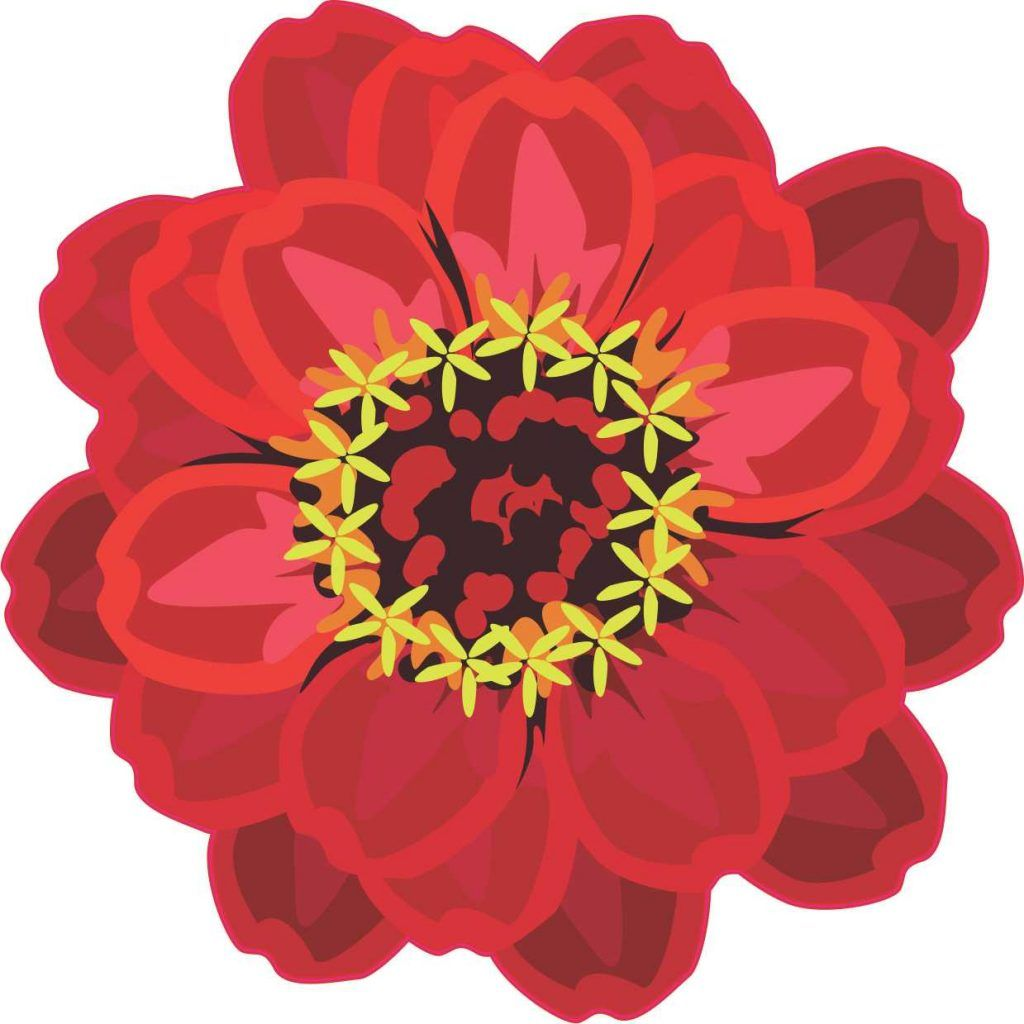 Stickertalk Red Flowers Vinyl Sticker Flowers [ 1024 x 1024 Pixel ]