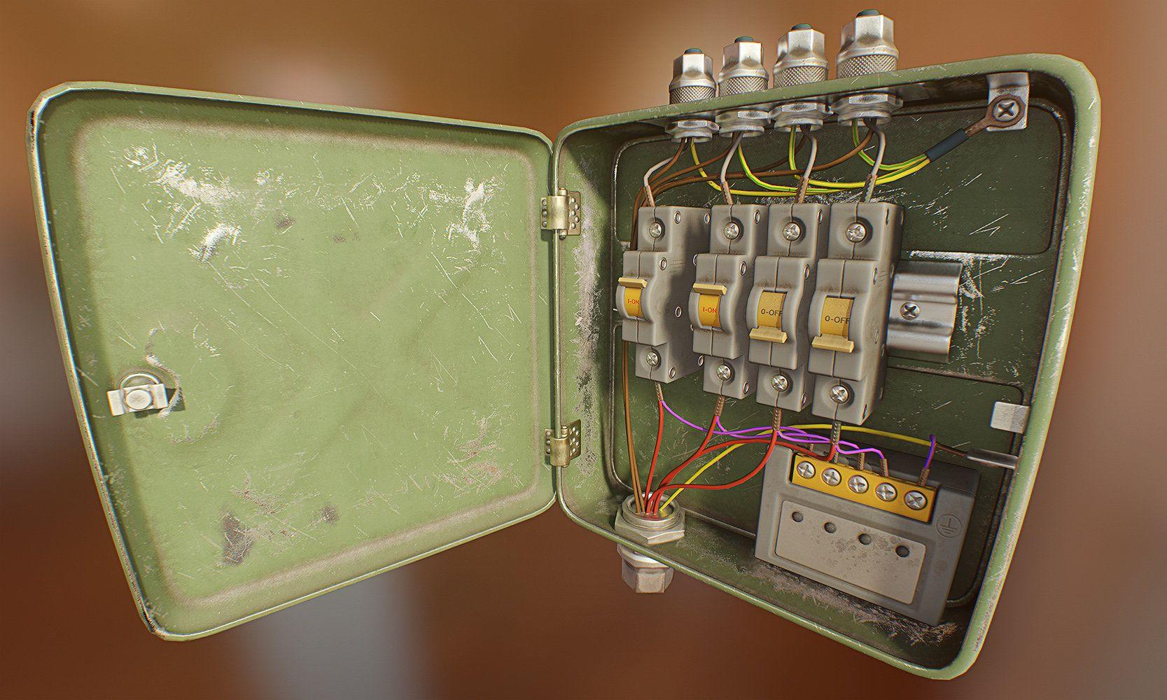 Artstation Fusebox Alexander Komendant Props And Design The Game Fuse Box