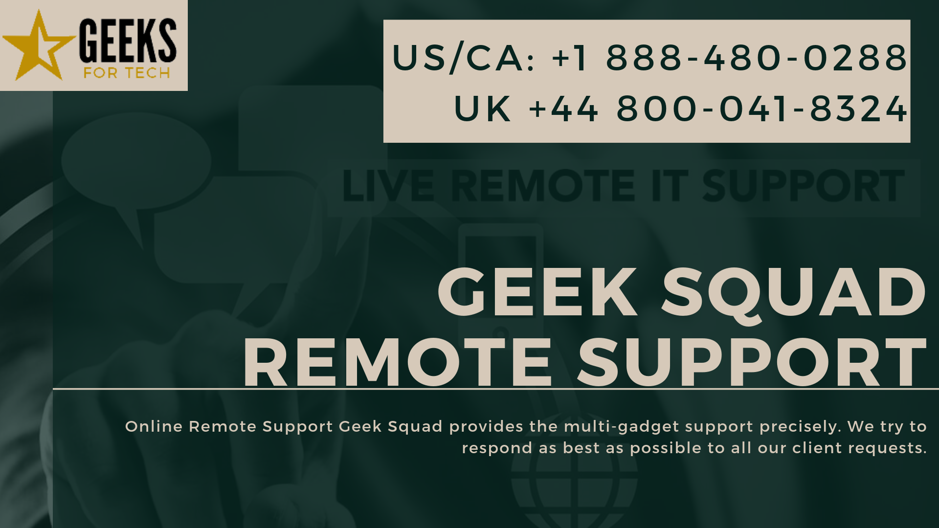 Geek Squad remote supports the leading tech support