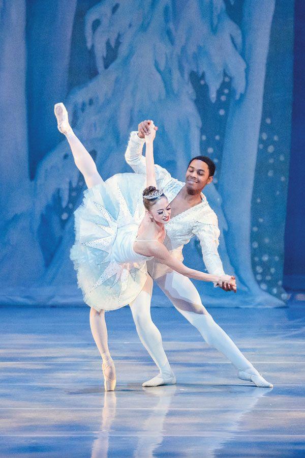Tiffany Mori as the Snow Queen in Nutcracker (photo by Kelly Pratt Photography, courtesy Saint Louis Ballet)