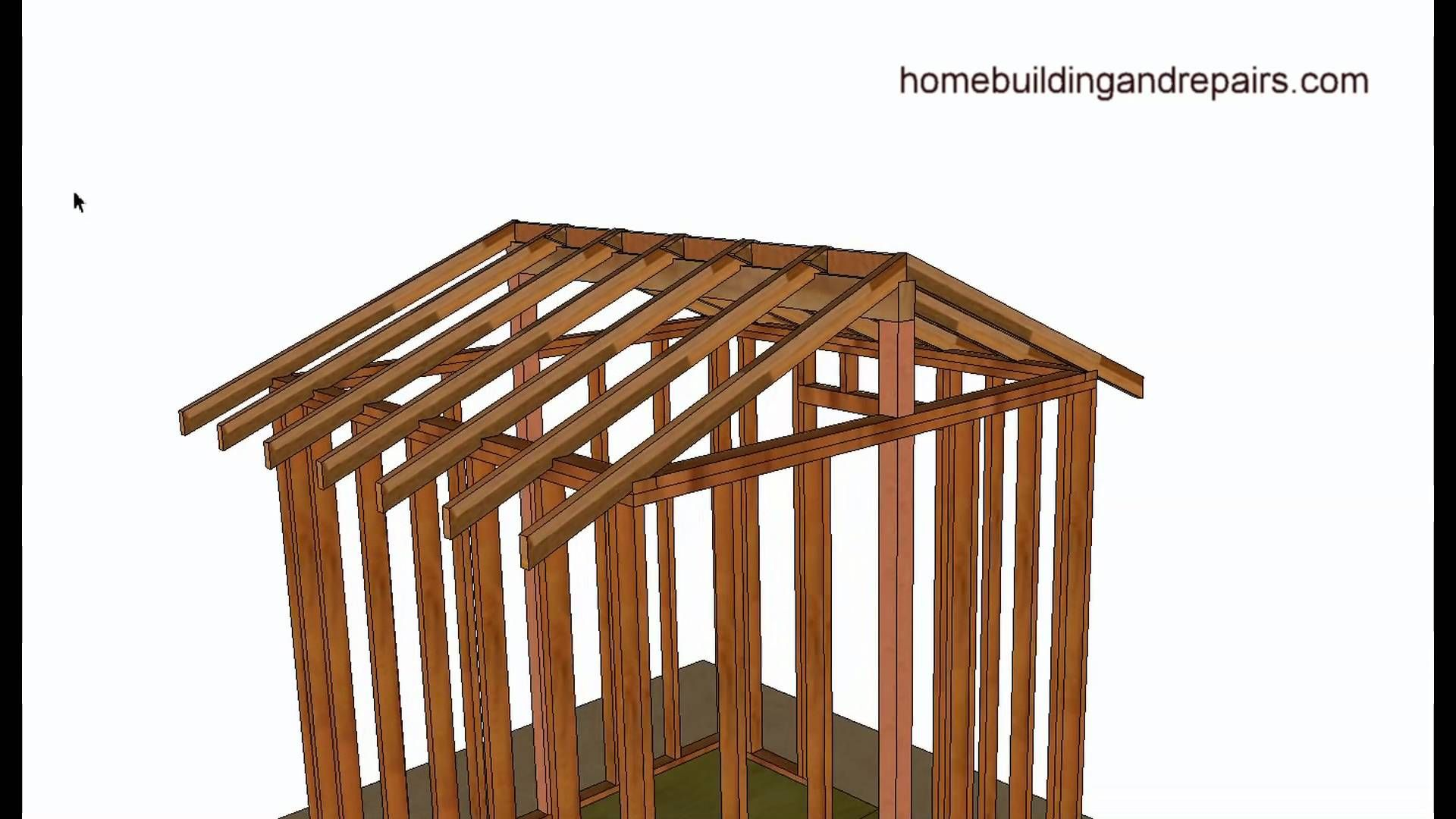 Vaulted or cathedral roof framing basics home building