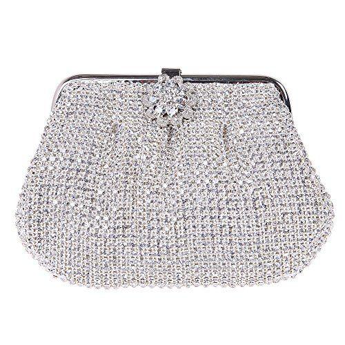 Fawziya Floral Purse And Handbags For Women Rhinestone Crystal Clutch Bag