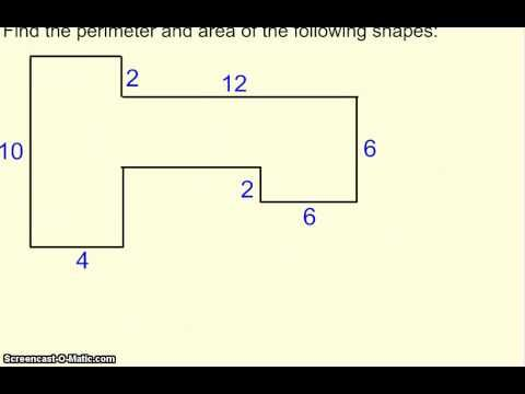 Perimeter And Area Of Irregular Shapes Area And Perimeter Math Tutorials Perimeter Of Irregular Shapes Area of irregular shapes worksheets