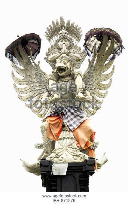 Figures from Balinese mythology near Bangli, Bali, Indonesia, South East Asia
