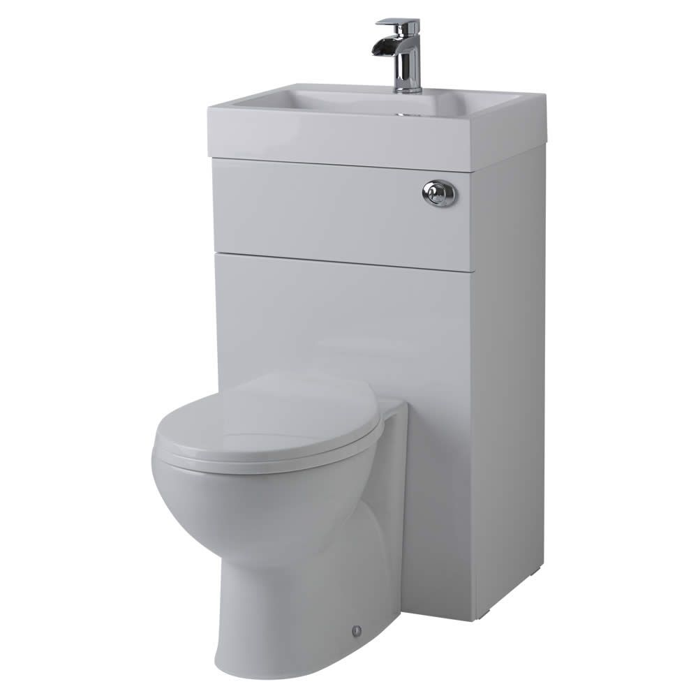 Miraculous Milano Lurus White Modern Select Toilet And Basin Unit Evergreenethics Interior Chair Design Evergreenethicsorg