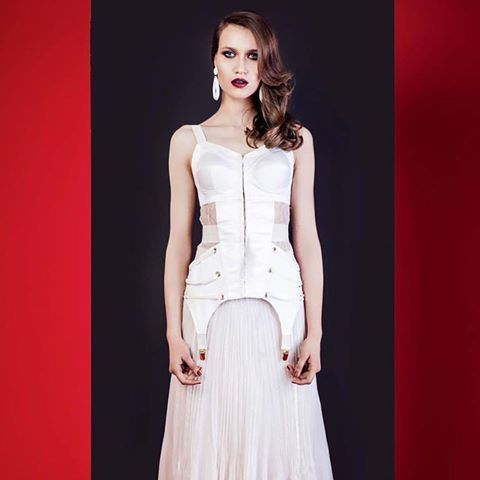 the white zest corset featured in the latest fashion