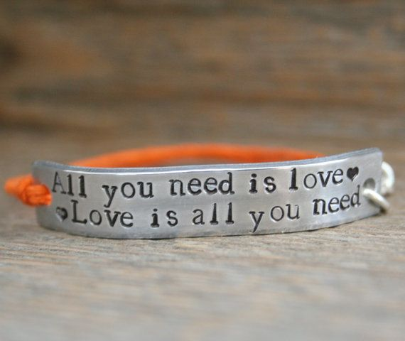 Friendship Bracelet ONE All You Need Is Love Hand by AlwaysAMemory