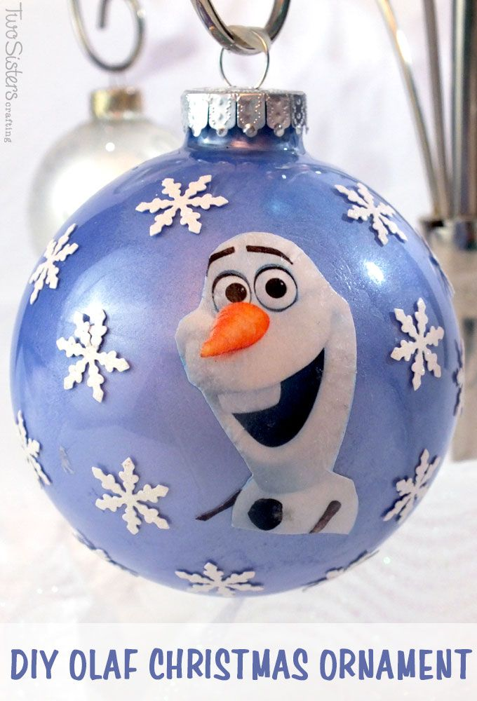 Along with that warm hug, give the Frozen fans in your family something  special to - DIY Frozen Christmas Ornaments Frozen Party Ideas Pinterest