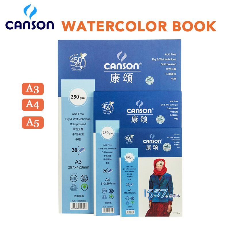 Eval A3 A4 A5 250g M2 Professional Watercolor Painting Paper 20