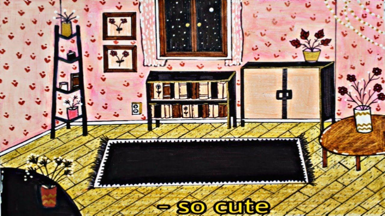 How To Draw Manga Room تعليم الرسم تحدي رسم غرف انيمي مرة مرة كيوت Home Decor Decor Frame