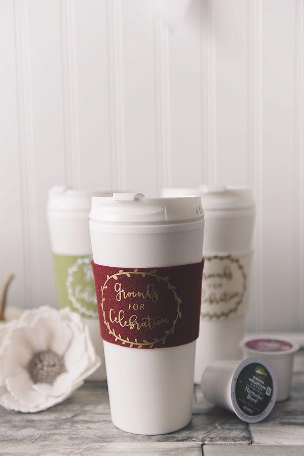 Easy DIY Fall Bridal Shower Coffee Cozies